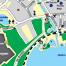Situation, Moyens d'accès, Plan de la ville